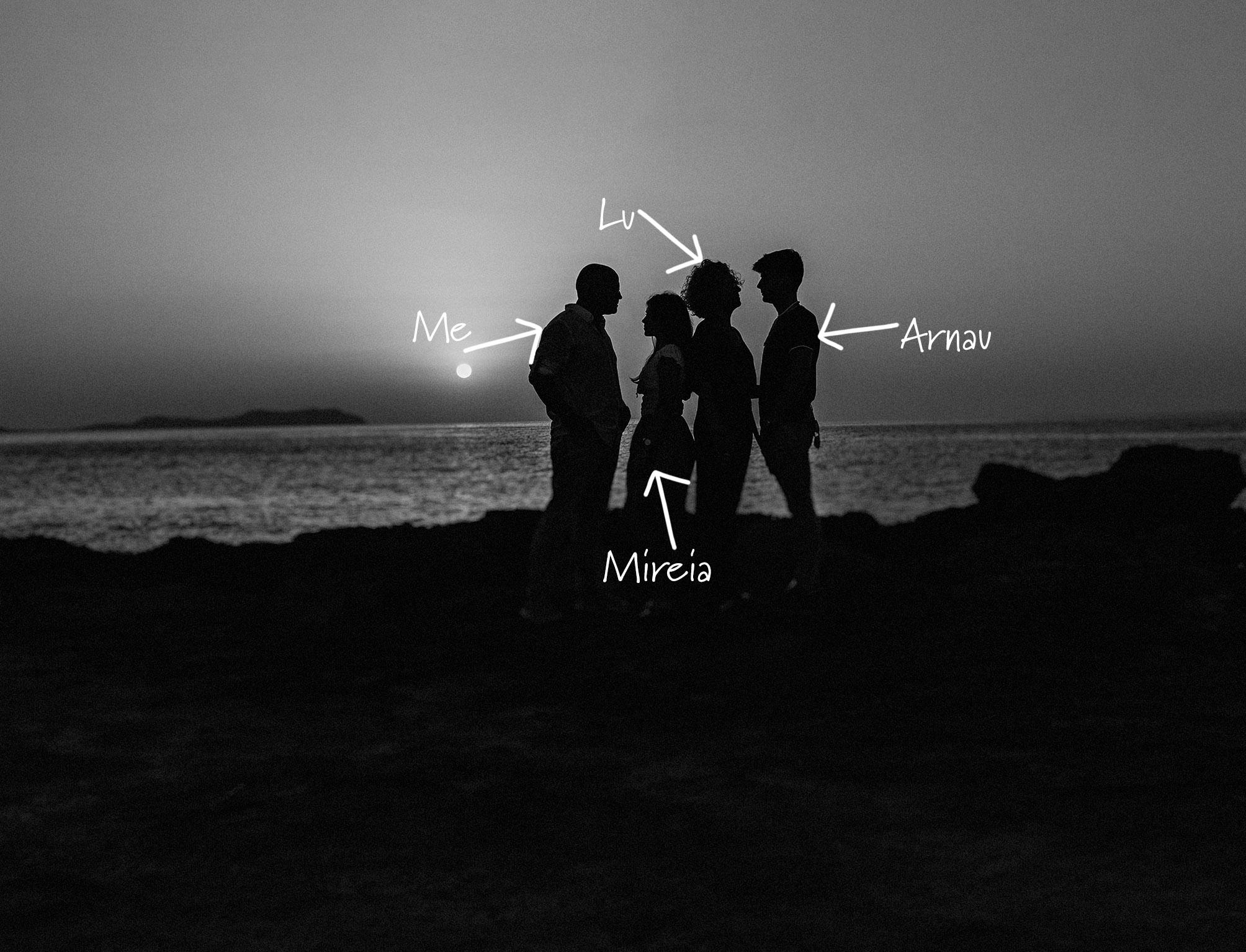 Family photo in Santa Eulalia Ibiza